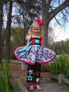 3Pc ladybug spring summer pageant boutique by elephantsnbutterflys, $125.00