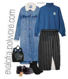 """""""Untitled #700"""" by evalofra on Polyvore featuring Pull&Bear, adidas Originals, Balenciaga, River Island, Dr. Martens, Belgique, outfit and ootd"""