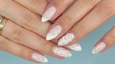 Bridal Nails, Wedding Nails, Classy Nails, Almond Nails, Nail Art Designs, Bride, Nailart, Ootd, Weddings