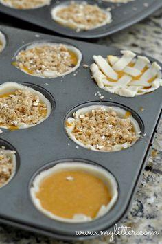 Mini Pumpkin Pies - 3 ways