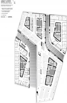 Floor Plan | Library and Learning Center University of Economics Vienna | Zaha Hadid Architects