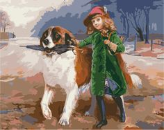 Frameless Wall Sticker Painting By Numbers Hand Painted On Canvas Oil Painting Wedding Decoration Of Girl And Dog 40X50CM. Yesterday's price: US $15.59 (12.90 EUR). Today's price: US $8.26 (6.70 EUR). Discount: 47%.
