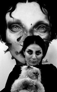 "Iranian artist Afarin Sajedi at her show ""Inside her eyes"", Palazzo Valentini, Roma. ☀"