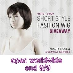 Ceva de umplut timpul | Something to fill the time: Short-Style Fashion Wig #Giveaway