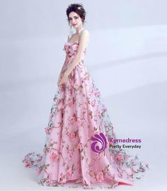 bd0d838cbea In Stock Ship in 48 hours A-Line Strapless Pink Tulle Appliques Prom Dress