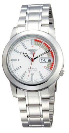 Seiko 5 Automatic SNKK25J1 White Dial Stainless Steel Men's Watch