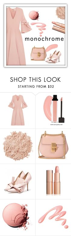 """""""Petal"""" by patricia-dimmick ❤ liked on Polyvore featuring Roksanda, La Mer, Chloé, Chantecaille and monochrome"""