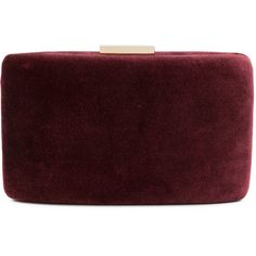 Kayu Andrea Maroon Velvet Clutch (605 PEN) ❤ liked on Polyvore featuring bags, handbags, clutches, red, red clutches, velvet handbag, kayu, chain purse and velvet purse