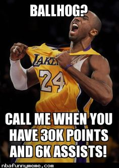 Kobe Bryant: First Player in NBA History to Get 30,000Points and 6,000Assist - http://nbafunnymeme.com/nba-memes/kobe-bryant-first-player-in-nba-history-to-get-30000points-and-6000assist
