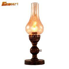 46.75$  Watch now - http://ali46n.shopchina.info/1/go.php?t=32801197664 - 110-240V Retro Style Table Lamp Dimming Nostalgic Kerosene Lamp Bedroom Children's Room Bedside Lamp Lighting Decoration 46.75$ #bestbuy