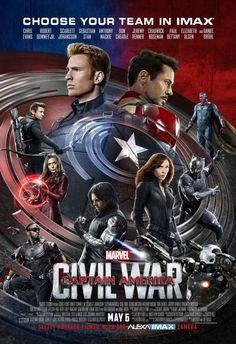 Team Cap e Team Iron Man nel poster IMAX di Captain America: Civil War   Universal Movies