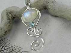 moonstone topaz necklace ... love this color combo