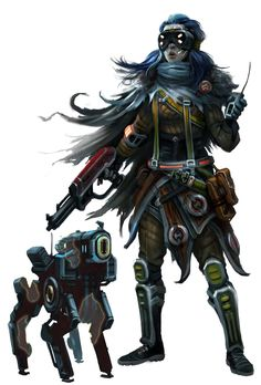 Android Outlaw Mechanic - Starfinder RPG (Core Rulebook Art)