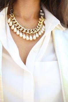 side-letter & drop pearls