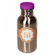 Blafre Edelstahl Trinkflasche Deckel lila 500 ml