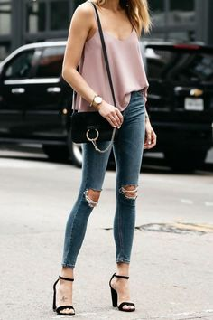 Women Jeans Outfit Jeans Skirt Outfit High Waisted Bell Bottom Pants Mens Smart Casual Look Cheap Rave Clothes Celebrity Clothing Jeans And Heels Outfit – yuccarlily Outfit Jeans, Jeans Outfit Summer, Fashion Mode, Fashion Outfits, Womens Fashion, Jeans Fashion, Street Fashion, Fashion News, Jeans With Heels