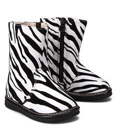 Love this Zebra Squeaker Boot by Hide & Squeak on #zulily! #zulilyfinds