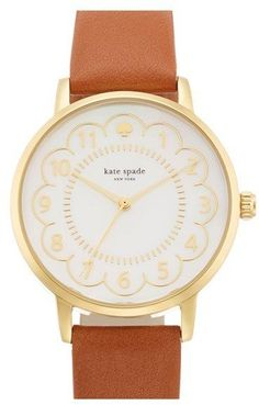 SOO obsessed with the scallops on this Kate Spade Watch!