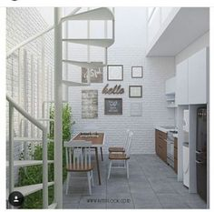 Trendy home small spaces apartments decorating laundry rooms Small Apartment Decorating, Apartment Design, Small Apartments, Small Spaces, Home Room Design, House Design, Stairs In Kitchen, Modern Stairs, Minimalist Home