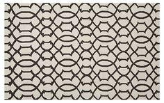 Gemas Dhurrie, Ivory/Charcoal | True Prep | One Kings Lane