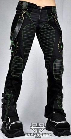 Cryoflesh Biohazard Cyber Goth Punk Rave Industrial Tactical EBM EMO Pants Fem #Cryoflesh #Clubwear