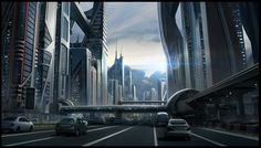 Sci-fi Cityscape by SebastianWagnerr | Create your own roleplaying game books w/ RPG Bard: www.rpgbard.com | Dungeons and Dragons Pathfinder RPG Warhammer 40k Fantasy Star Wars Exalted World of Darkness Dragon Age 13th Age Iron Kingdoms Fate Core Savage Worlds Shadowrun Call of Cthulhu Basic Role Playing Traveller Battletech The One Ring d20 Modern DND ADND PFRPG W40K WFRP COC BRP DCC TOR VTM GURPS science fiction sci-fi horror art