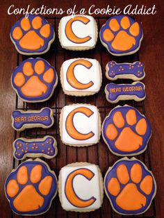 Clemson Cookies My Cookies Pinterest Cake Cookie