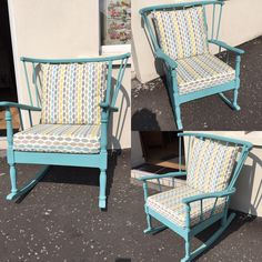 #upcycle #furniture #rockingchair #chalkpaint #kingfisher #everlongpaint #interiors #distressed #ReFind