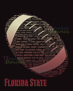 Bespoke Word Art: Florida State Football Fever! - Designed by Alisha Morgan for Paperclipped Memories.