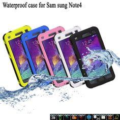 IP-68 Waterproof Shockproof Phone Cover Case For Samsung Galaxy Note 4 IV N9100