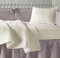 RH baby & child - vintage washed belgian linen bedding collection