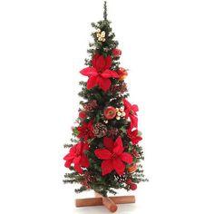 【ASKUL】アカツキコーポレーション クリスマスツリー Lサイズ ポインセチア×アップルベリー PRAS‐0193 - オフィス用品から現場用品まで 通販 アスクル(法人向け)