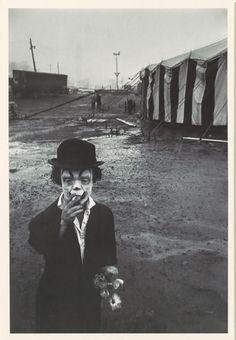 Bruce Davidson, Clown and Circus Tent, 1958