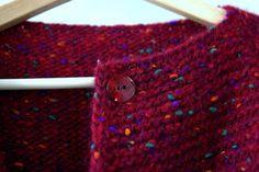 """Купить Пальто """"The Burst of Purple"""" - красное пальто, твидовая пряжа, бордовое пальто"""
