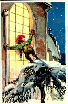 Julekort Trygve M. Davidsen utg Mittet stemplet 1933
