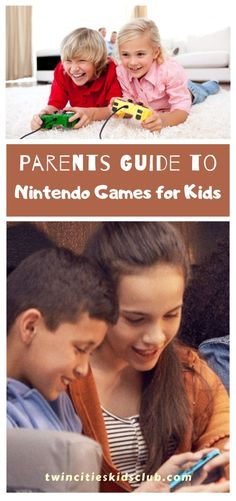 Twin Cities Kids Club Blogs: Parents Guide to Nintendo Games for Kids- Nintendo is a household name in kids entertainment. As a parent, you likely have fond memories of playing Nintendo games as a child — or maybe you still do! Who doesn't love a great game of Mario Kart or Super Smash Bros.? #kids #games #fungames #indoorgames #kids #kidsactivities #gameday #gameart #gamenight #kidsroomideas #kidscrafts #parents #parenting #parentingtips