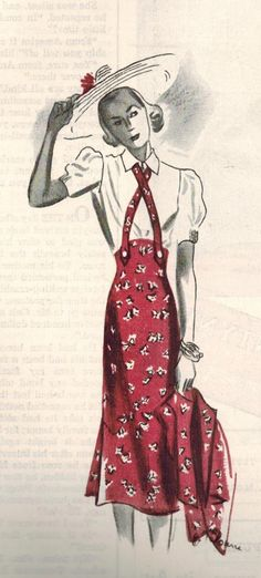 The Midvale Cottage Post: Summer Fashion from 1938 - High-Waisted Skirt and Bolero!