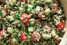 """The classic Middle Eastern salad gets an of-the-moment upgrade with the """"it"""" grain, quinoa."""