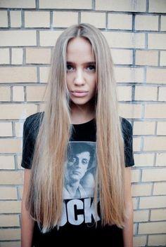 Ash Blonde Straight Haircut