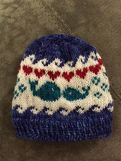 I Whale Always Love You is a fun, fair isle hat inspired by my friend Emily who is due with a baby boy December of 2015!