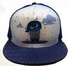 Embroidered Disney | Pixar Inside Out Sadness Baseball Cap Hat