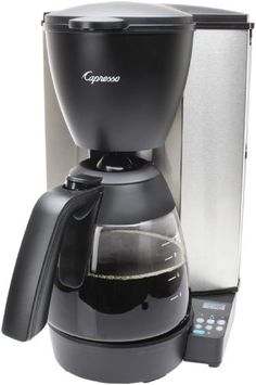 Capresso 484.05 MG600 Plus 10-Cup Programmable Coffee Maker with Glass Carafe ** Click image to review more details.
