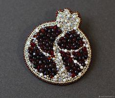 """Купить Брошь """"Гранат"""" - брошь, бордовый, подарок, подарок женщине, лучший подарок, модная брошь"""