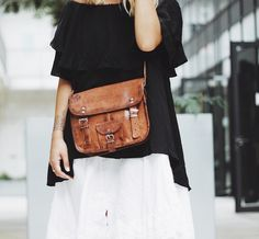"""Our handbag """"Emilia"""" is an absolute natural beauty. This small shoulder bag is perfect for every occasion and offers plenty of space for everything you need. Leather bag - vintage - Gusti leather - vegetable tanned leather - eco friendly"""
