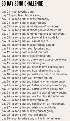 i am so excited for this challenge since it's my first one!(and it's about music sooo.)i hope i will be able to upload every day since it's a challenge Mood Songs, Music Mood, Music Quotes, Music Lyrics, Great Song Lyrics, Songs To Sing, The Chainsmokers Paris, Happy Days Song, 30 Day Song Challenge