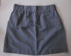 BANANA REPUBLIC Women's Gray LINEN COTTON Blend Mini Pocket Skirt Size 10 #BananaRepublic #Mini