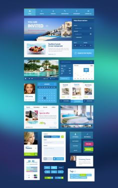 Great travel UI Kit http://pixelkit.com/amember/aff/go?r=27299&i=22 #web #design #project