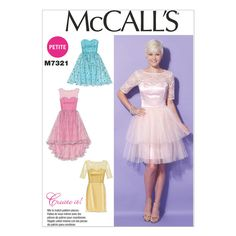 McCall's Sewing Pattern M7321 Sweetheart-Neckline Dresses - WeaverDee.com Sewing & Craft