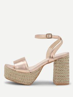 eb8bf270008 Ankle Strap Platform Heeled Sandals