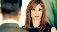 """I am not apologizing for who I am"" - Donna Paulsen #suits"